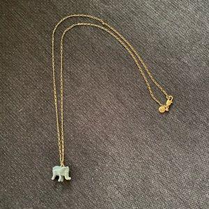 Jcrew factory elephant pendant necklace